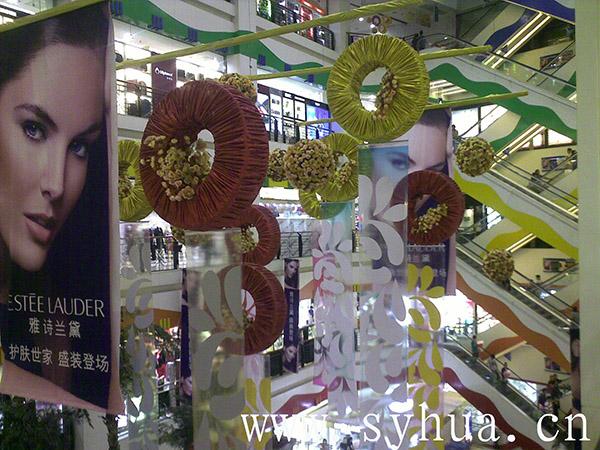 大型商场中厅的吊挂